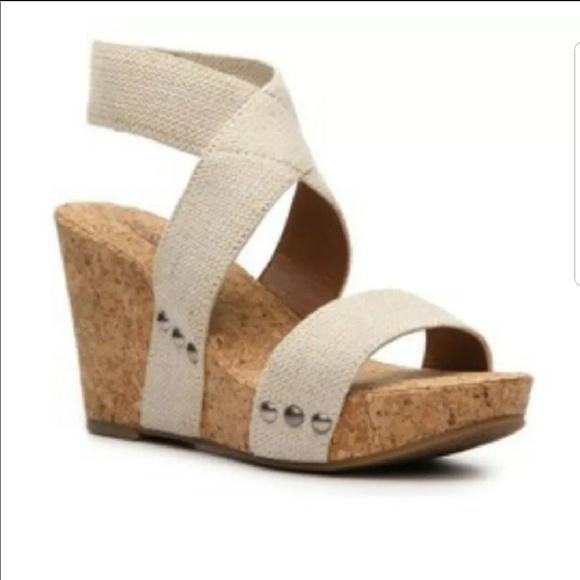 ff43eda564d Lucky Brand Shoes - Lucky Brand Marinah Cork Wedge Sandal size 6.5 !